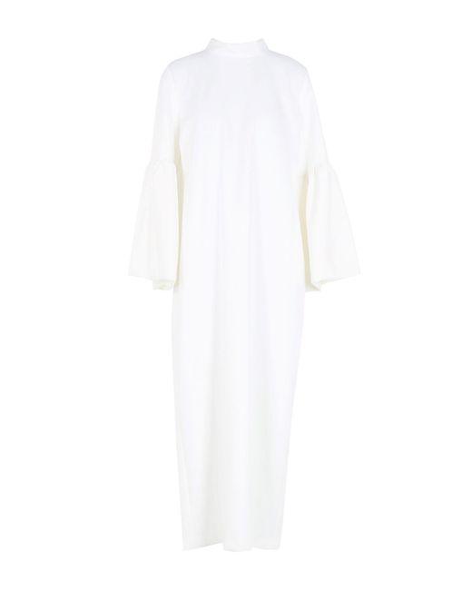 WEILI ZHENG - White 3/4 Length Dress - Lyst