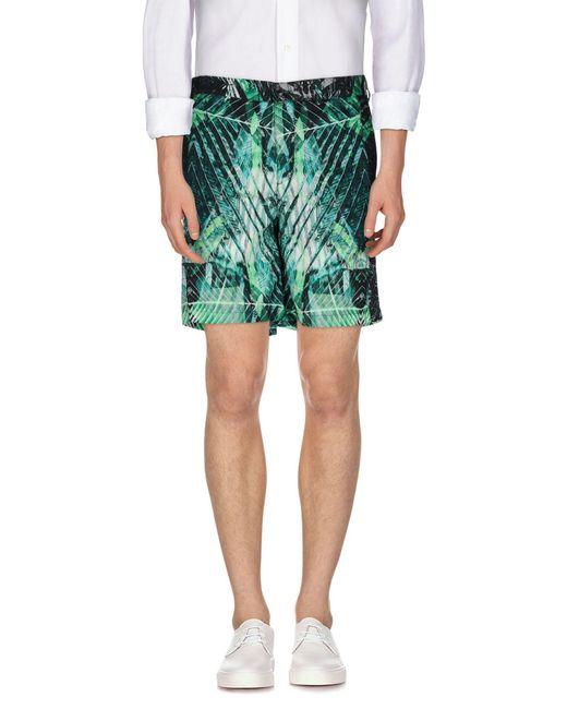 Just Cavalli - Green Bermuda Shorts for Men - Lyst