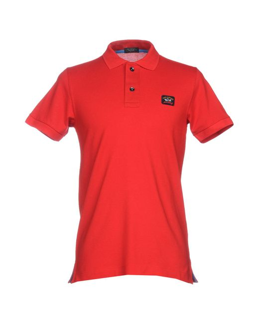 Paul & Shark - Red Polo Shirt for Men - Lyst
