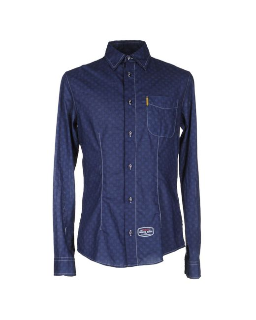 Armani Jeans - Blue Shirts for Men - Lyst