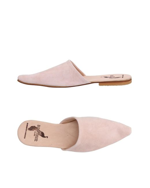 Brother Vellies - Pink Suede Sister Mules - Lyst