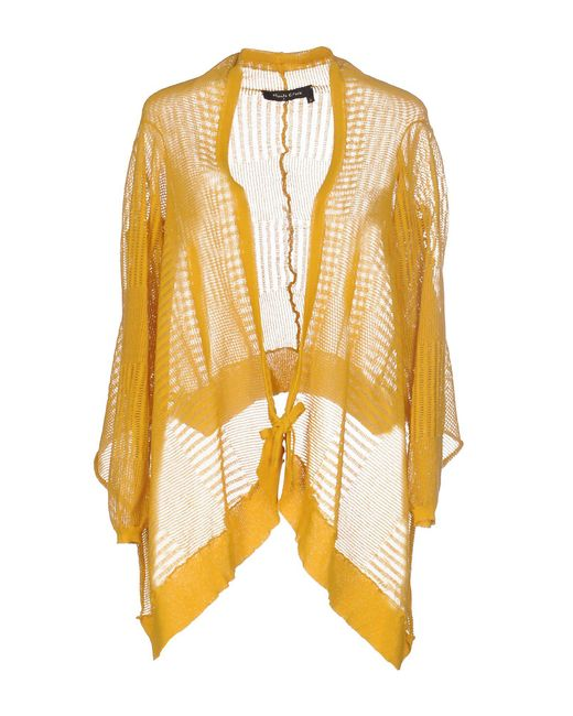 Manila Grace - Yellow Cardigan - Lyst