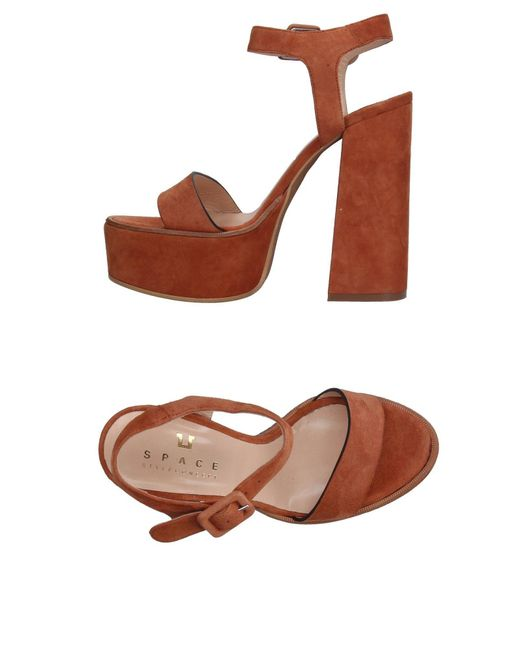 Space Style Concept - Brown Sandals - Lyst