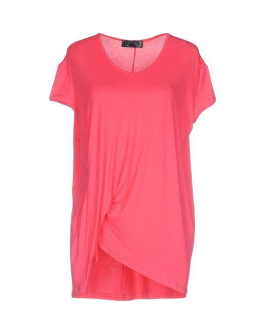 Satine Label - Pink T-shirts - Lyst