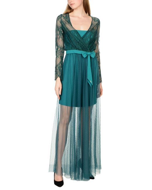 Liu Jo - Green Long Dress - Lyst