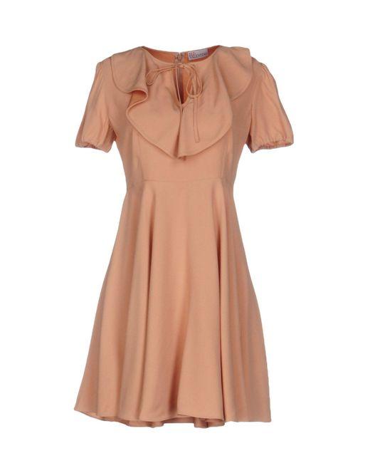 RED Valentino   Orange Short Dress   Lyst