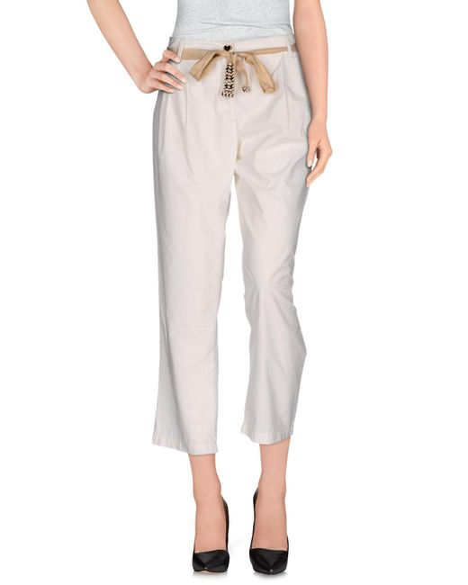 Twin Set - White Casual Trouser - Lyst