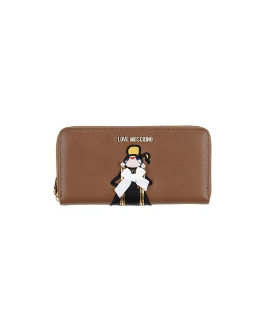 Love Moschino - Brown Wallets - Lyst