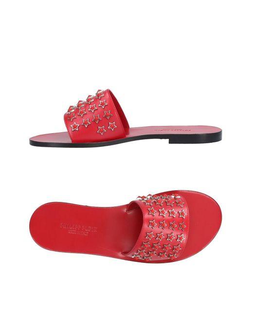 Philipp Plein - Red Sandals - Lyst