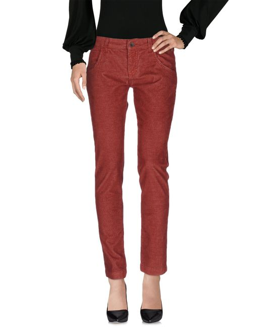 Manila Grace - Red Casual Pants - Lyst