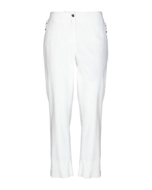 Class Roberto Cavalli White Casual Pants