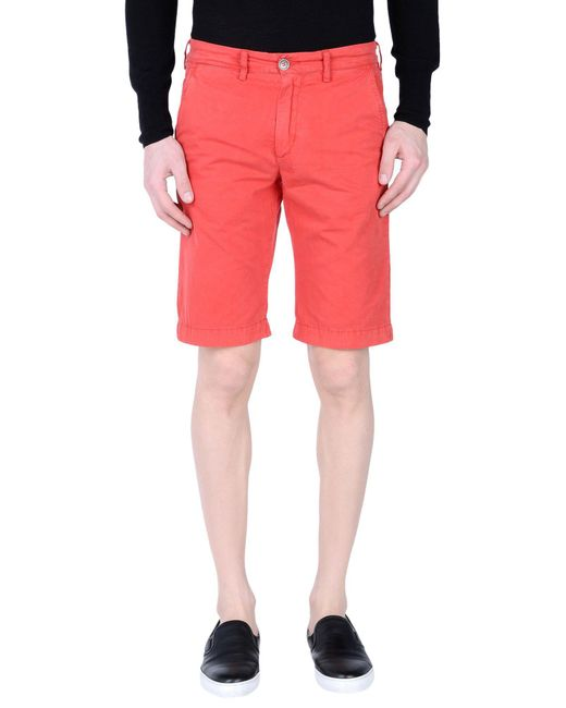 40weft | Red Bermuda Shorts for Men | Lyst