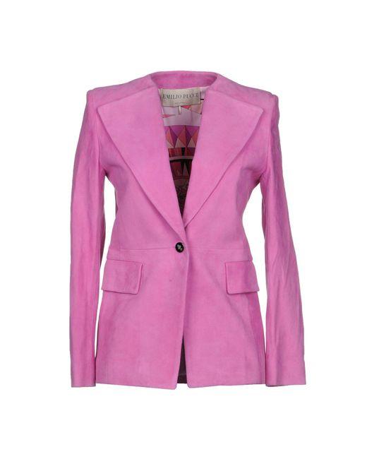 Emilio Pucci - Pink Blazers - Lyst