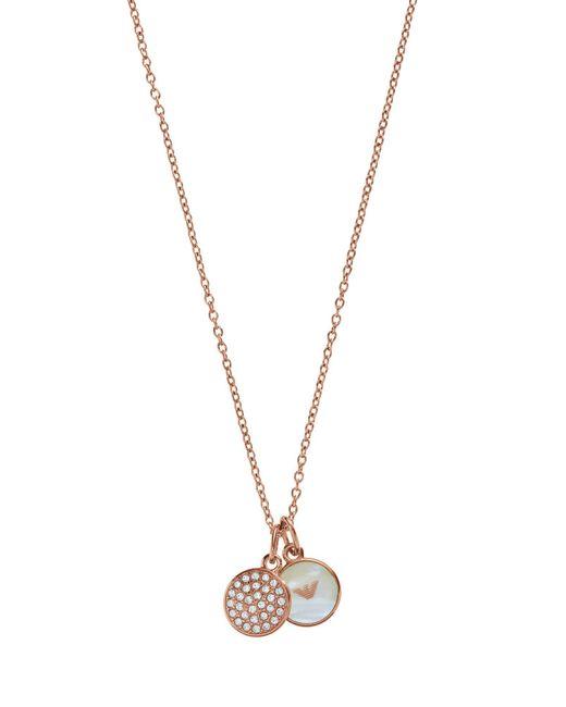 Emporio Armani - Metallic Necklaces - Lyst