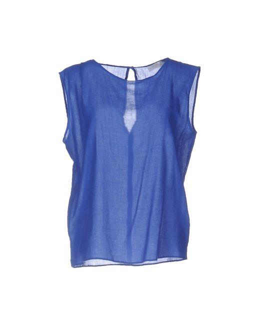 Glanshirt - Blue Tops - Lyst
