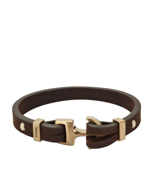 Fossil - Brown Bracelets for Men - Lyst