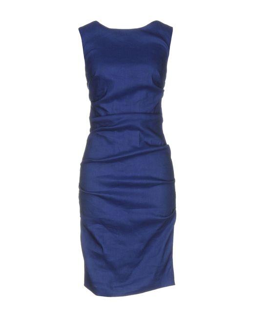 Nicole Miller Artelier | Blue Knee-length Dress | Lyst