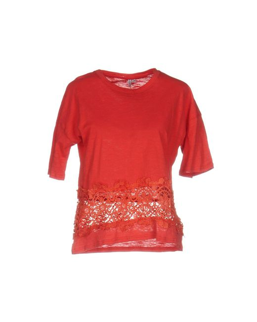 Care Of You | Red T-shirt | Lyst