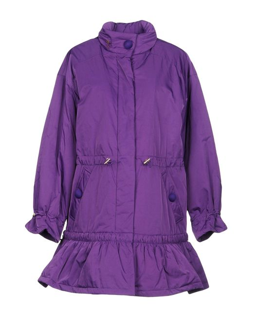 Boutique Moschino - Purple Synthetic Down Jacket - Lyst
