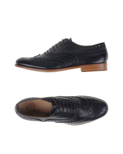 Church's   Black Berlin Leather Brogue Oxford Shoes for Men   Lyst