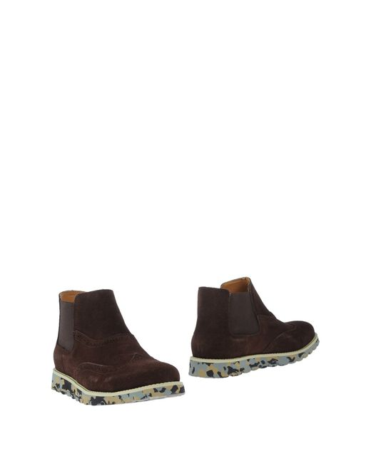 colors of california ankle boots in brown for lyst