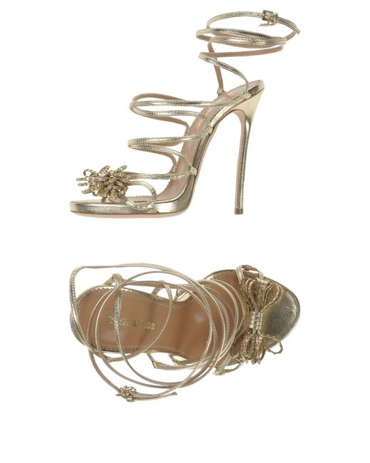 DSquared² | Metallic Sandals | Lyst