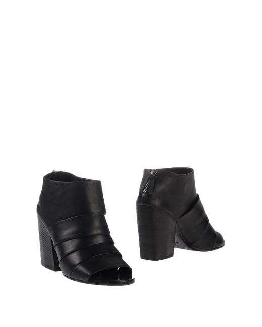 Marsèll | Black Glazed Laceup Ankle Boot | Lyst