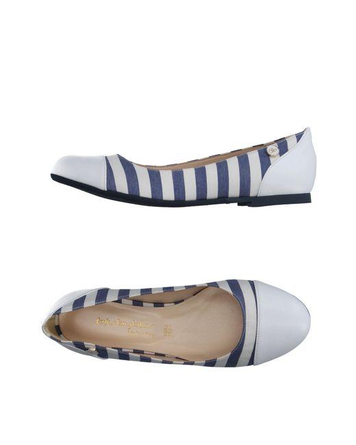 Blu Byblos | White Ballet Flats | Lyst