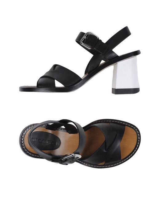 Jil Sander | Black Sandals | Lyst