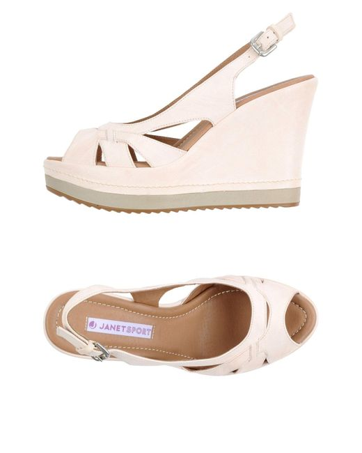 Janet & Janet | White Sandals | Lyst