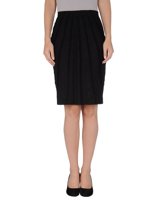 Mauro Gasperi - Black Knee Length Skirt - Lyst