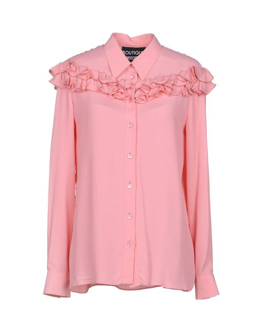Boutique Moschino - Pink Shirt - Lyst