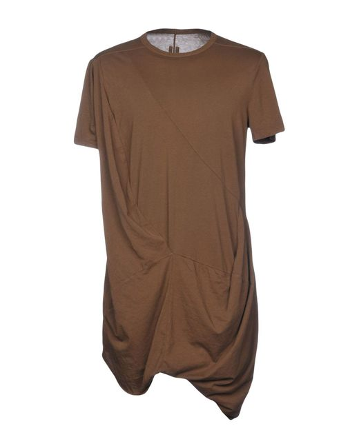 DRKSHDW by Rick Owens - Brown T-shirt for Men - Lyst