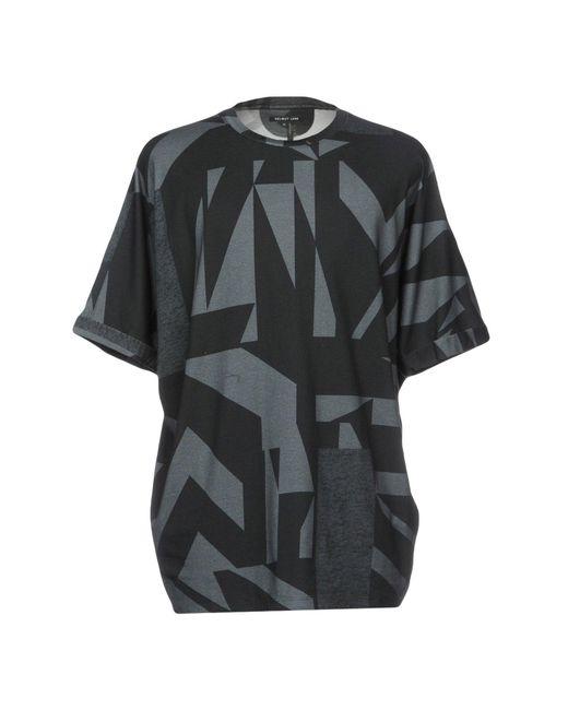 Helmut lang t shirt in black for men lyst for Helmut lang t shirt