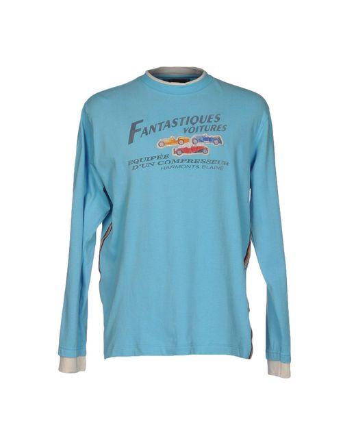Harmont & Blaine   Blue T-shirt for Men   Lyst