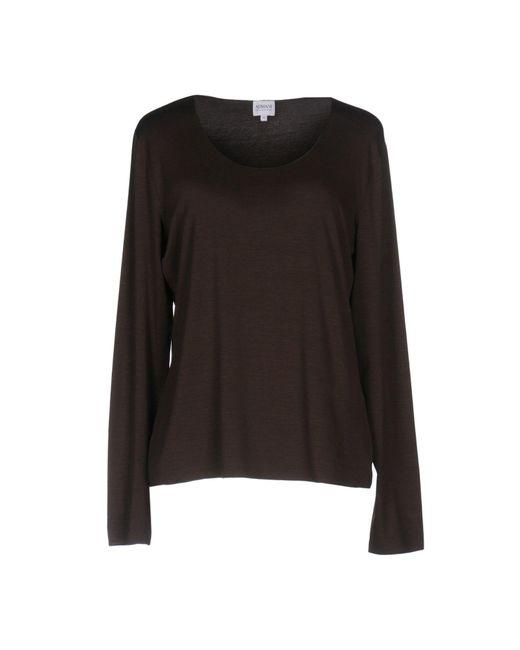 Armani | Brown T-shirt | Lyst