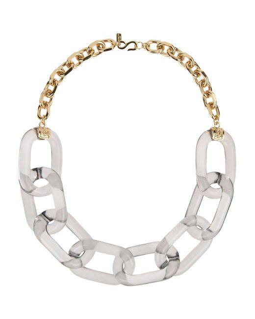 Kenneth Jay Lane - Metallic Necklace - Lyst