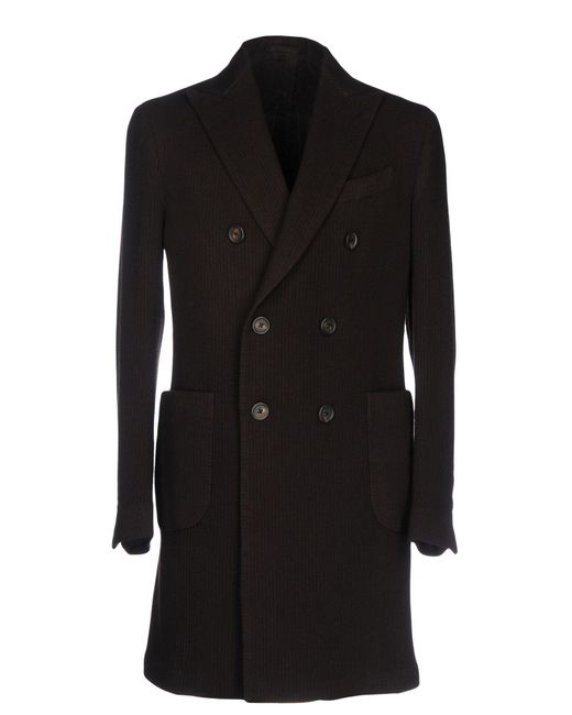 Lardini   Brown Coat   Lyst