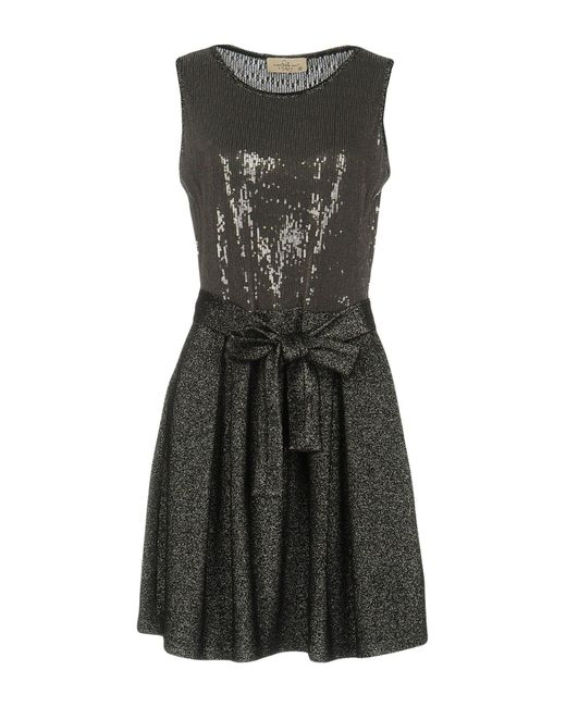 Just For You - Gray Short Dress - Lyst