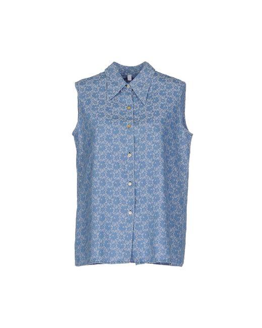 Aglini - Blue Denim Shirts - Lyst