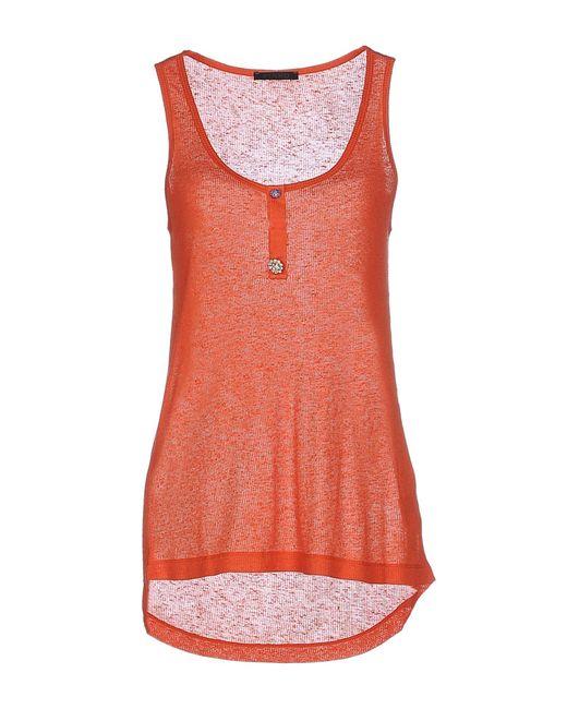 Pinko | Orange Tank Top | Lyst