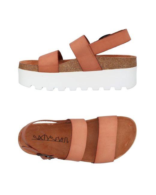 Sixtyseven - Brown Sandals - Lyst