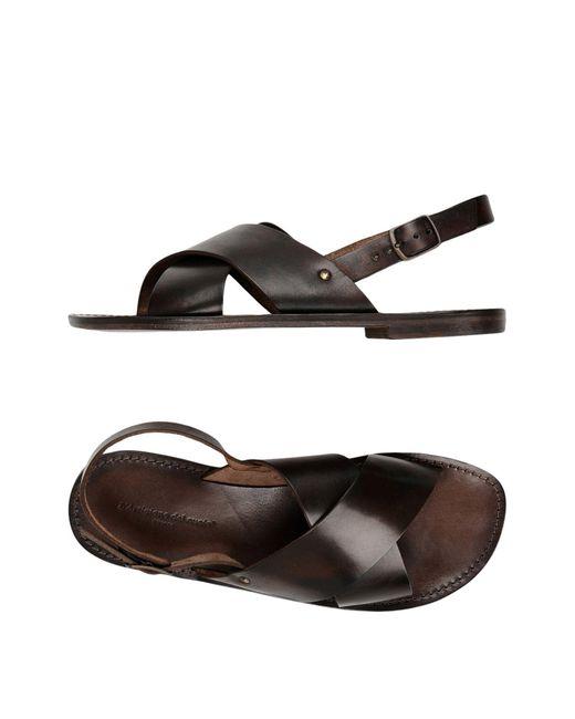 L'artigiano Del Cuoio - Brown Sandals for Men - Lyst