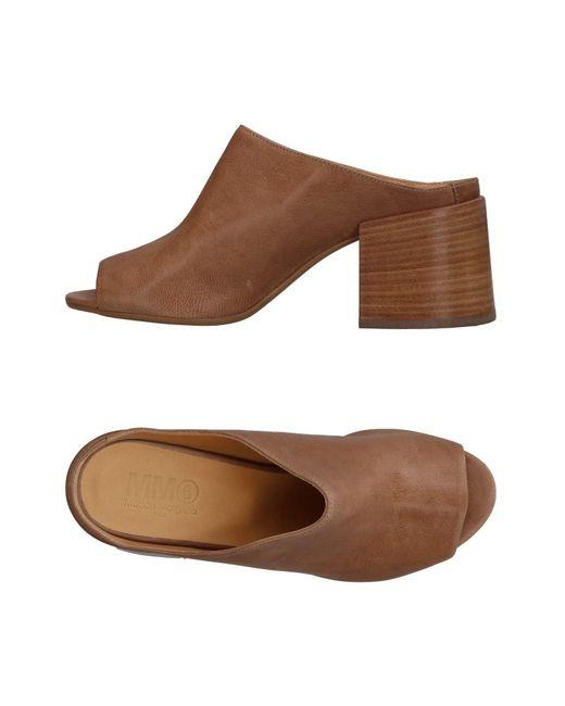 MM6 by Maison Martin Margiela - Brown Sandals - Lyst