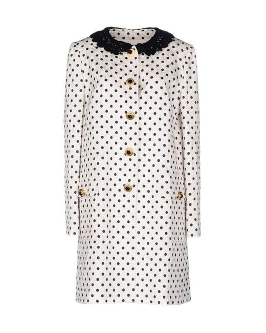 Dolce & Gabbana | White Coat | Lyst