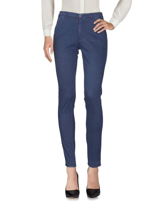40weft - Blue Casual Trouser - Lyst
