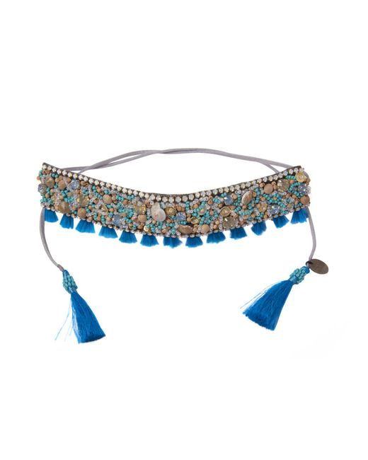 Deepa Gurnani | Blue Necklace | Lyst