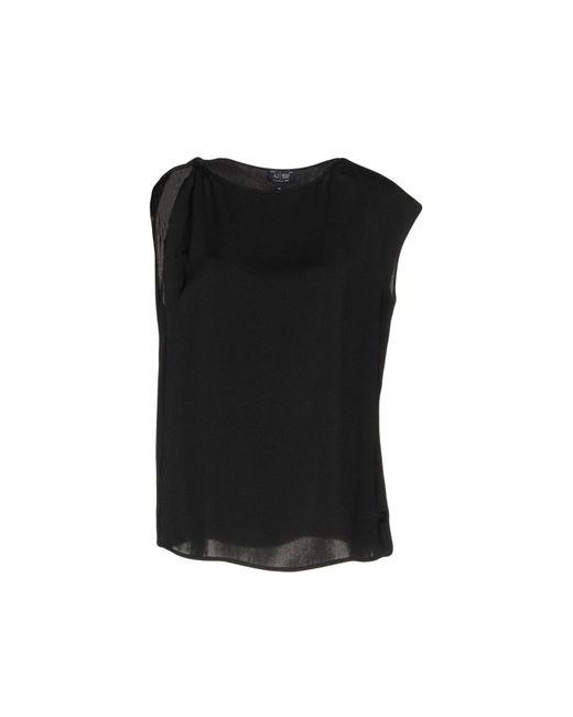 Armani Jeans - Black Top - Lyst