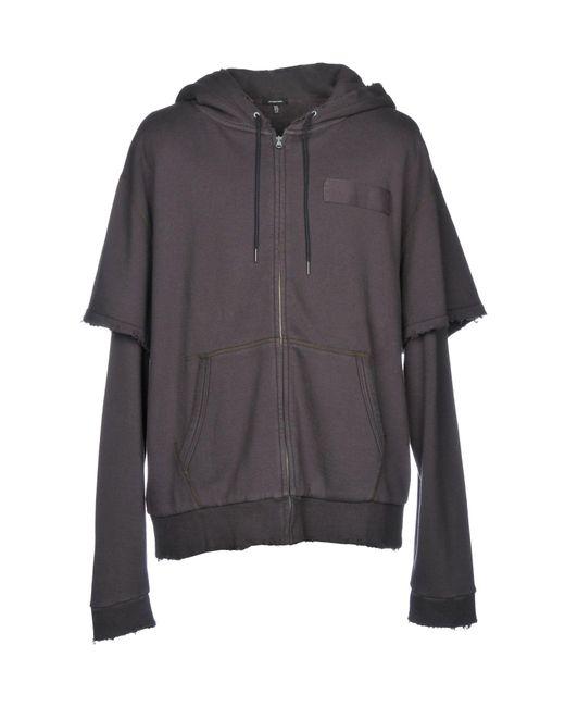 R13 Gray Sweatshirt for men