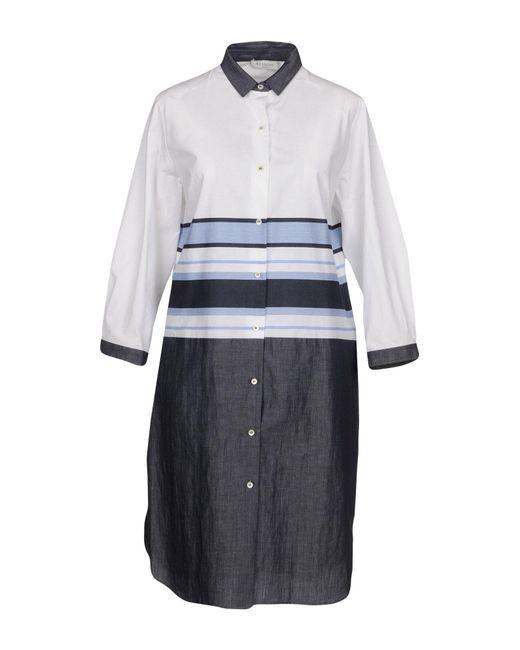ROSSO35 - White Short Dress - Lyst